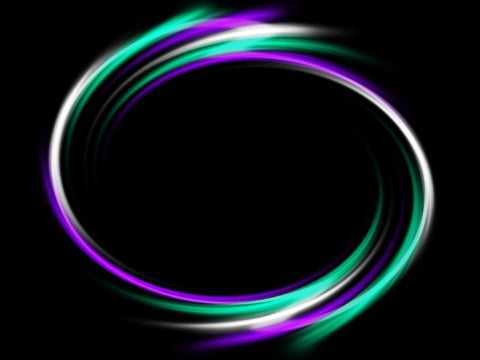 Turquoise and purple LED hula hoop