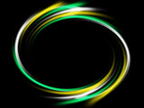 Yellow Aqua white LED hula hoop