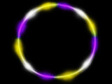 Yellow Purple white LED hula hoop