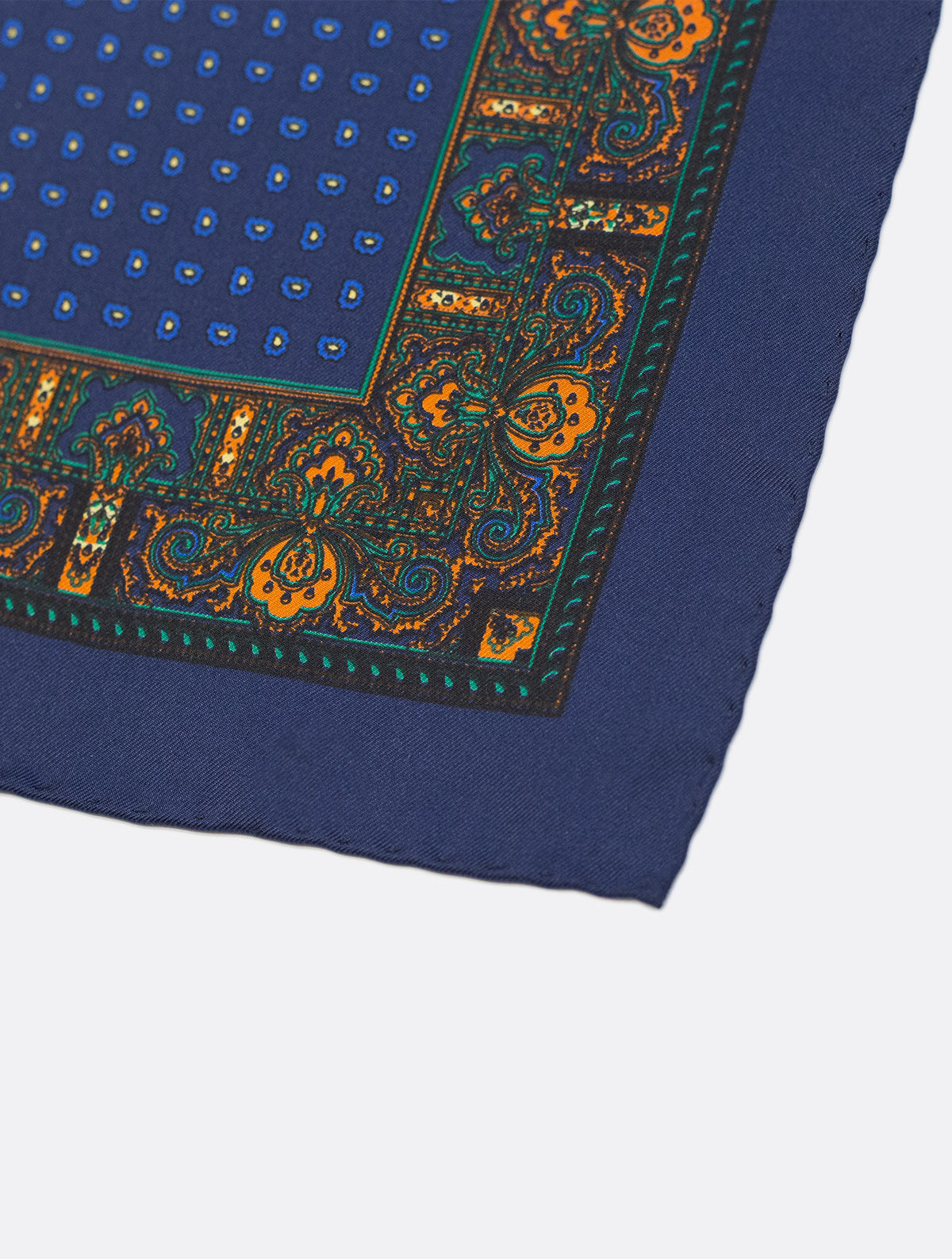 Silk Pocket Square in Blue
