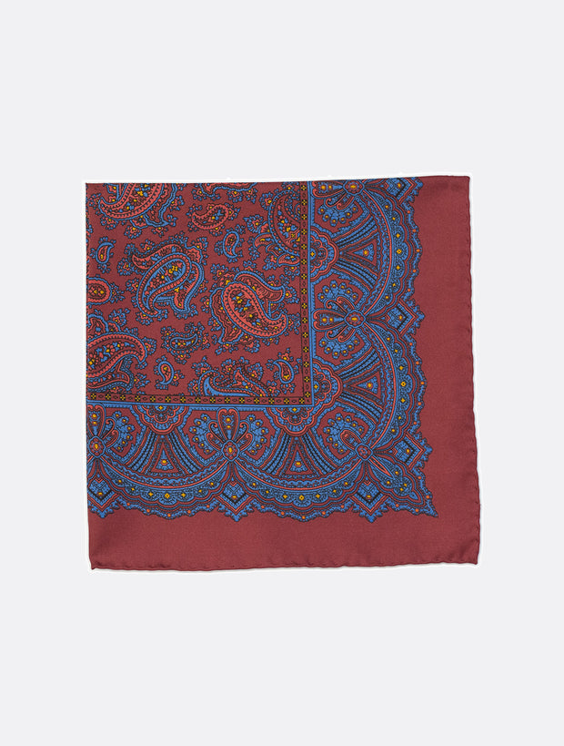 Silk Pocket Square in Red