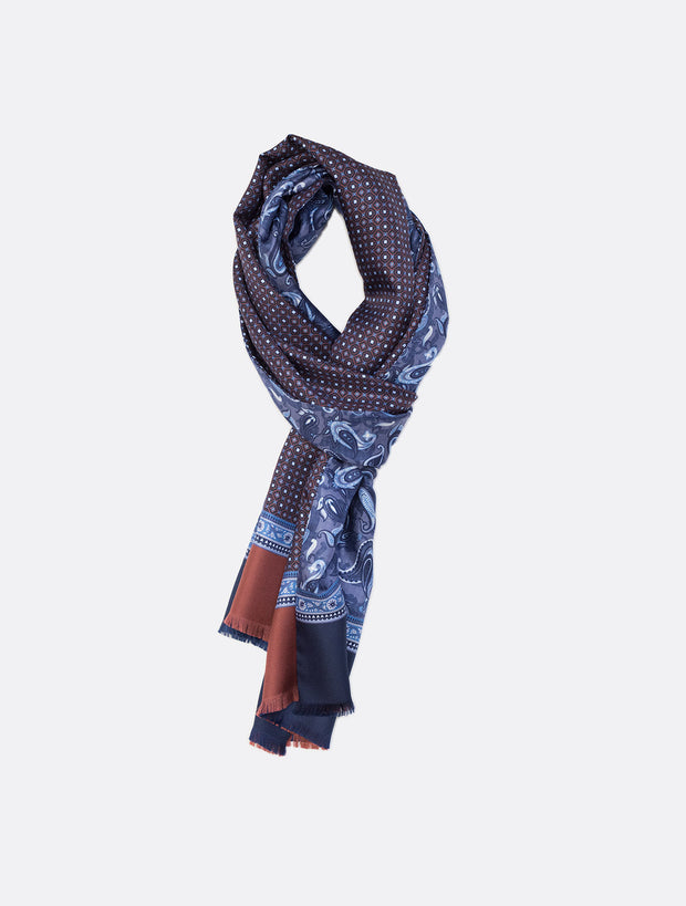 Silk Scarf in Blue