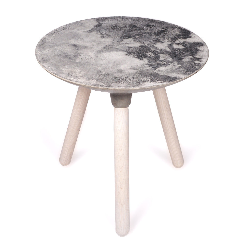 Textured Concrete Moon Table