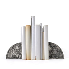 Concrete Bookends with Books