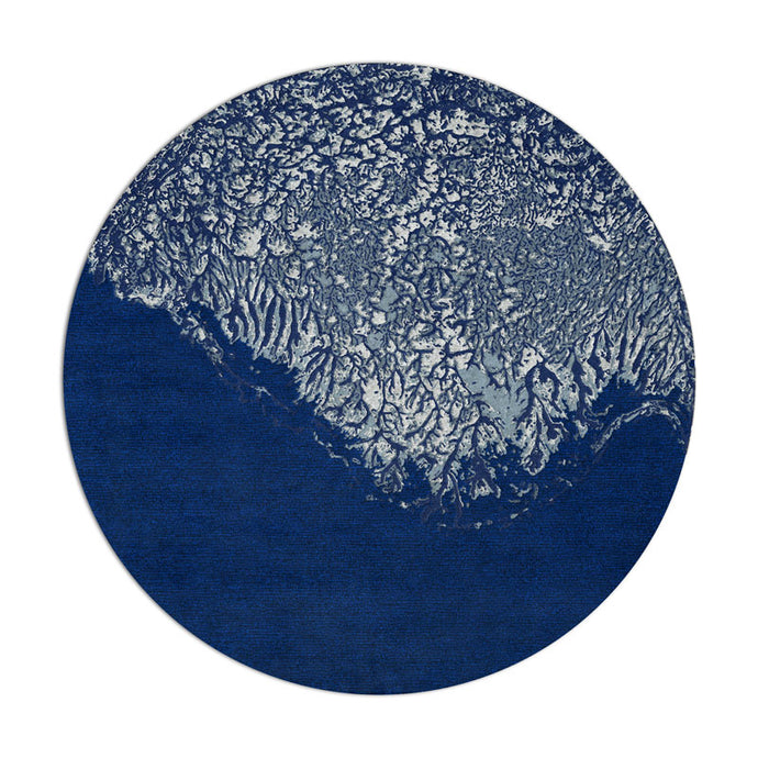 Natural Formations | Mineral Rug in Blue