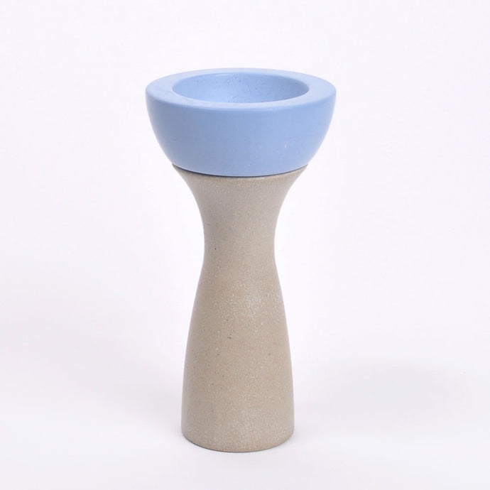 Ela 05 | Reversible Candleholder in Light Blue
