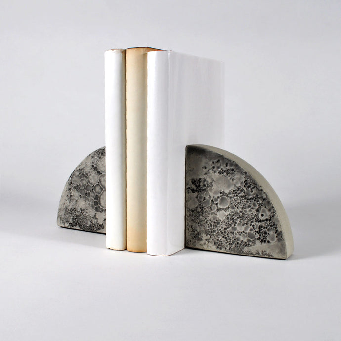 Moon Collection | Bookends - Grey