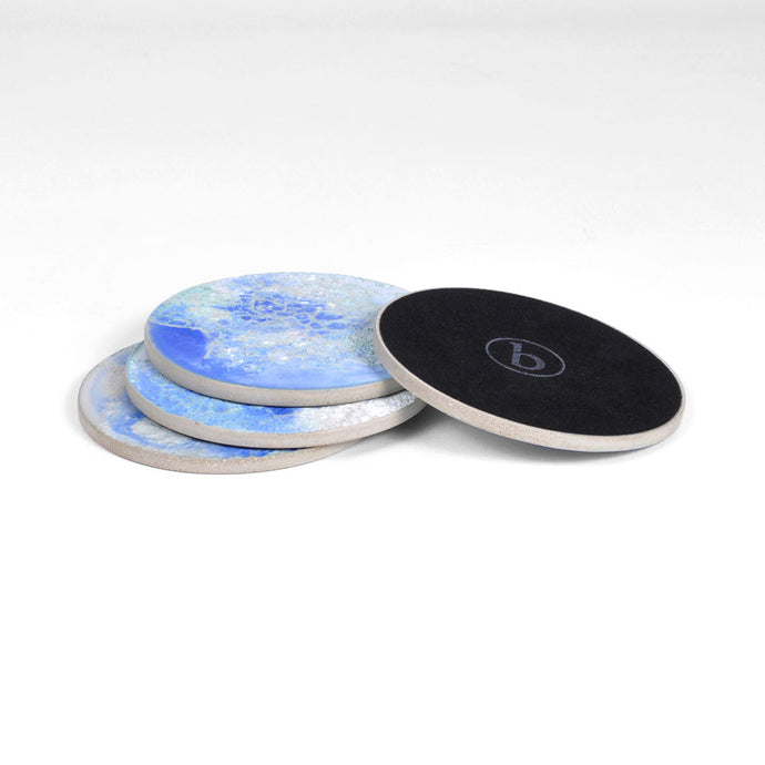 Moon Collection | Coasters in Blue
