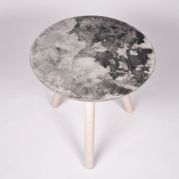 Moon Collection | Side Table in Light Grey