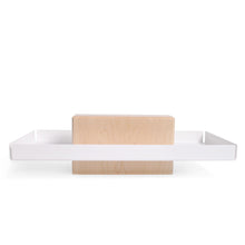 Maple and White Steel Pedestal Tray, Catchall
