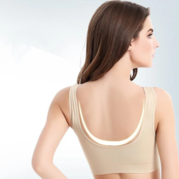 Comfortable Wireless Bra with Removable Pads