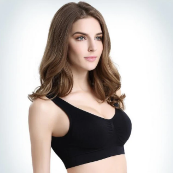 Women's Cozy Comfortable Wireless and Seamless Breathable Sweat-wicking Everyday Bra with Removable Pads