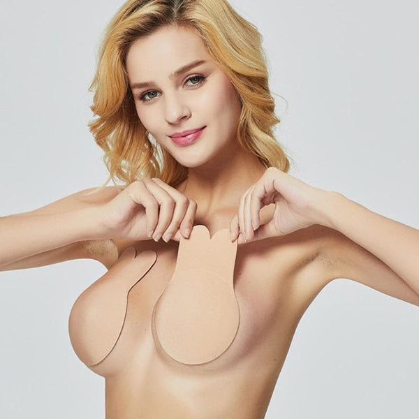 Women's Adhesive Silicone Bra Reusable Backless Strapless Self Adhesive Sticky Silicone Invisible Bra