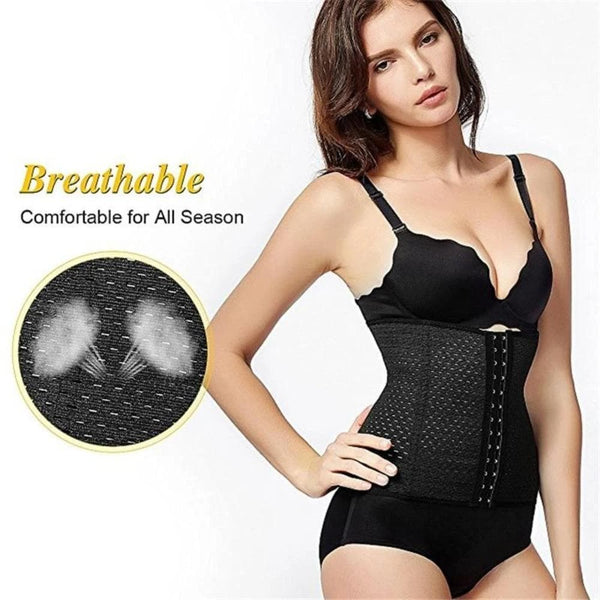 Women's Breathable Hourglass Corset Waist Trainer Soft and Flexible Body Shaper