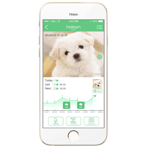 Smart Pet Comedouro Automático Wifi Hoison