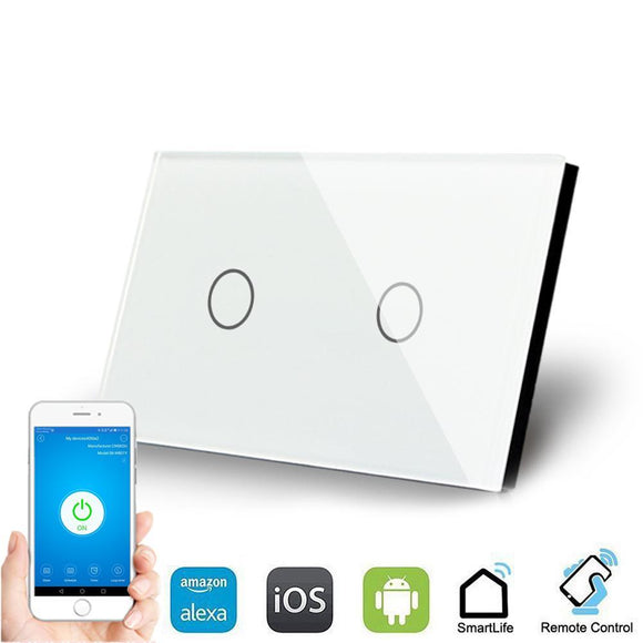 Smart Interruptor Wifi Touch Screen Wallpad 2 Teclas - SmartTudo.com.br