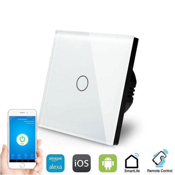 Smart Interruptor Wifi Touch Screen Wallpad 1 Tecla - SmartTudo.com.br