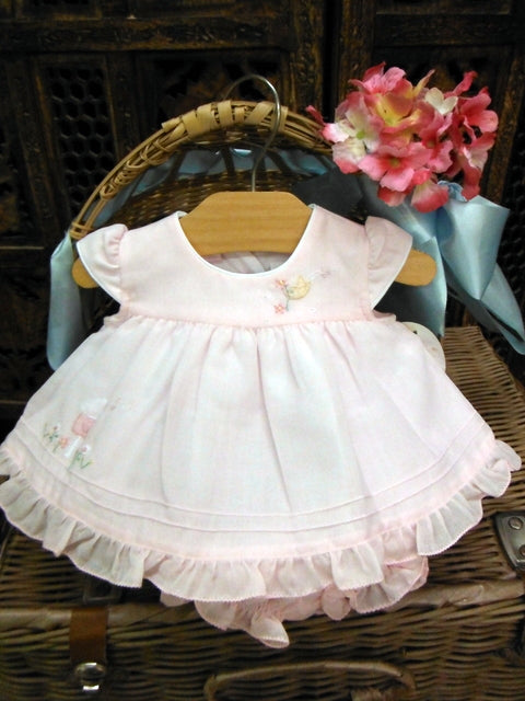 Will Beth Delicate dress with open back and ruffle bloomers - Silicone Velvet Matting Powder