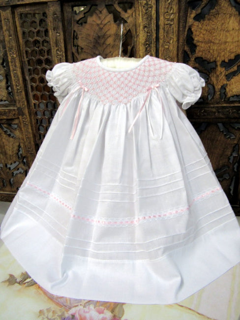 16493 Will Beth Baby Smocked Gown - Silicone Velvet Matting Powder