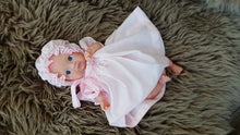 042 Cable Rose Smocked Bishop Dress for Dolls. Pink with smocked bonnet and bloomers. - Silicone Velvet Matting Powder