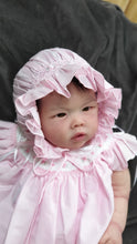 "H6367 Will Beth Traditional ""Vintage""style traditional open back smocked bonnet (pink) - Silicone Velvet Matting Powder"