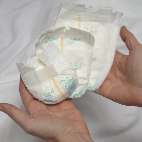 Preemie & micro preemie nappies (latex free) - EXCLUSIVE TO PIXIE KISSED BABIES - Silicone Velvet Matting Powder