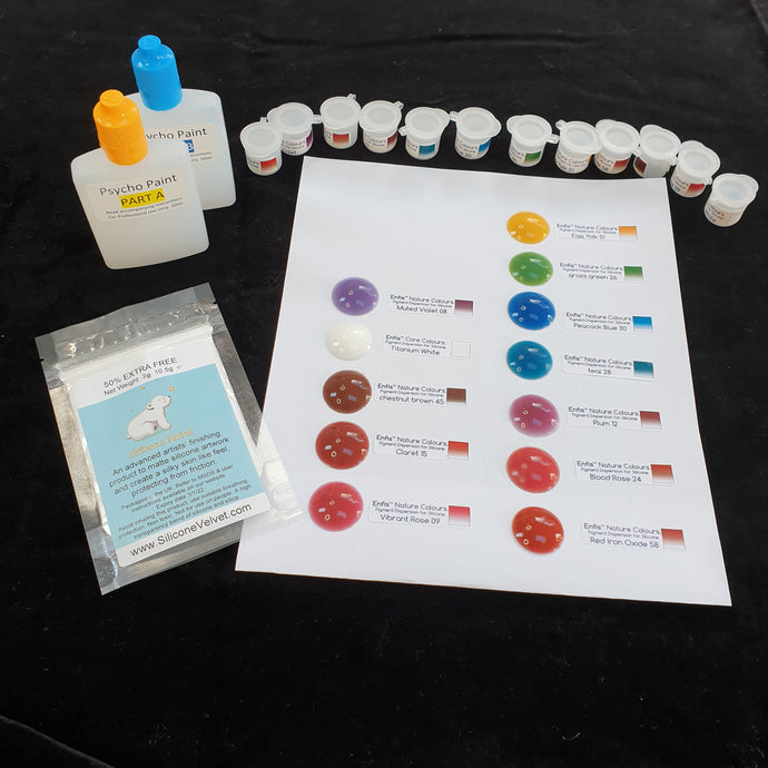 Silicone Artist Complete Starter Kit - INCLUDES PAINT BASE, pigment & matting powder
