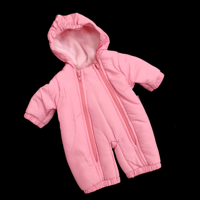 Snowsuit for dolls PINK. LIMITED STOCK (fits doll 33 to 37cm / 12 to 14inch)