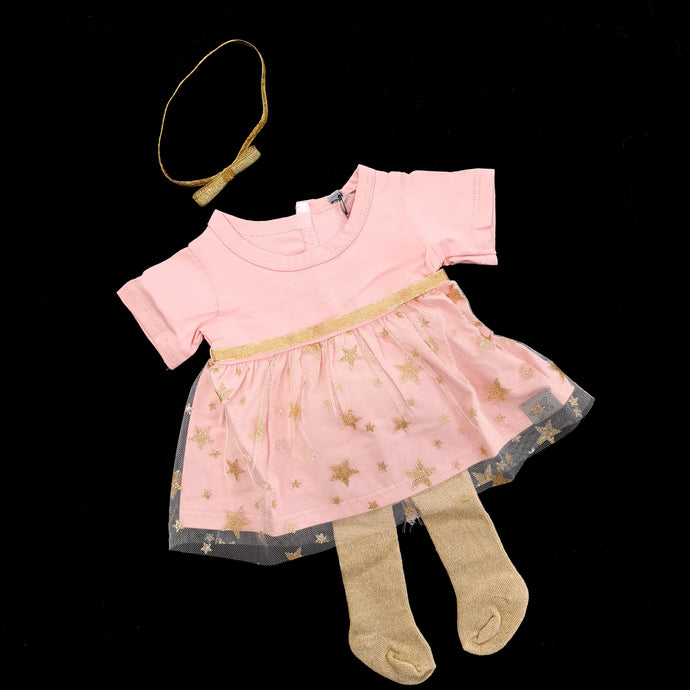 Tutu dress with headband ( 3 doll sizes for 12 to 20 inches / 30 to 50cm)