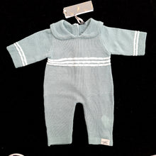 Romper - Blue Knit ( 3 doll sizes for 13 to 20 inches / 35 to 50cm)