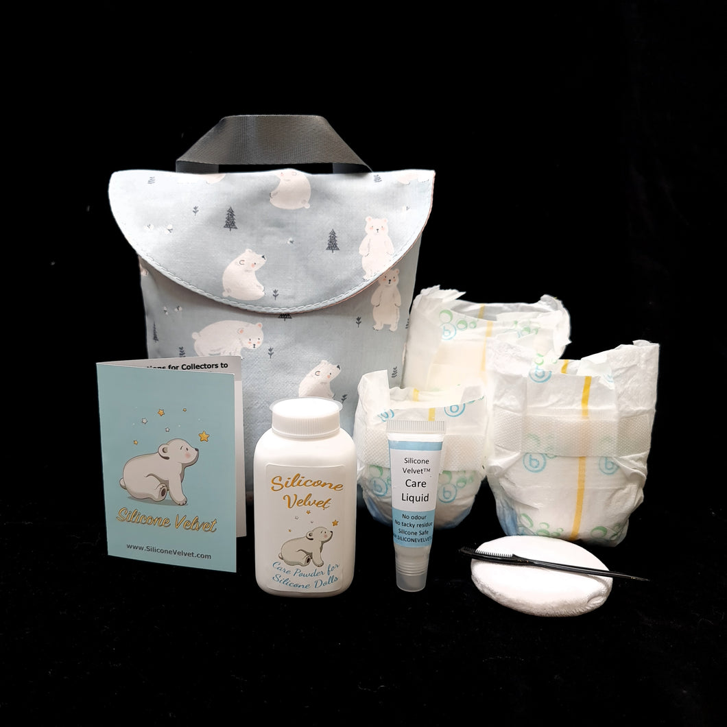 SIGNATURE BEAR GOODY BAG -classic edition packaging Silicone Baby Starter set / Full size Essentials (select nappy size)