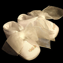 164 Will Beth Occasion pram shoes NB embroidery with seed pearls