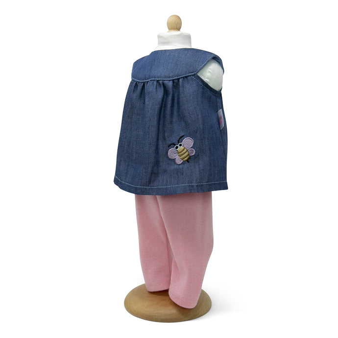Butterfly trousers with blouse (doll size for 10 to 15inch inches / 27 to 39cm)