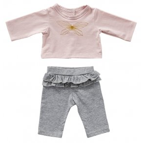 Ruffle trousers and butterfly top ( 3 doll sizes for 12 to 20 inches / 30 to 50cm)