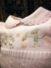 874354 Will Beth Knitted Rabbit Storybook Romper (brother & sister range) - Silicone Velvet Matting Powder