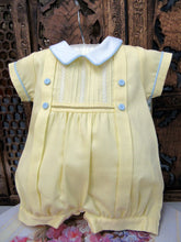 "77960 Will Beth  ""Vintage"" Style Yellow Romper with Blue Detailing NB - Silicone Velvet Matting Powder"