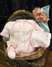 "80749 4 piece cotton knit ""take me home"" set preemie & newborn - pink / blue - Silicone Velvet Matting Powder"
