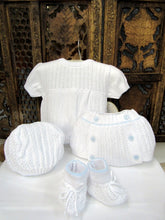 "875505 5 Piece Openwork ""Vintage"" style Knit set with nappy cover Blue - Silicone Velvet Matting Powder"