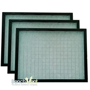 REPLACEMENT FILTERS for Table top ducted artists' extractor (A3 size) to extract solvents, dust and airbrush spray