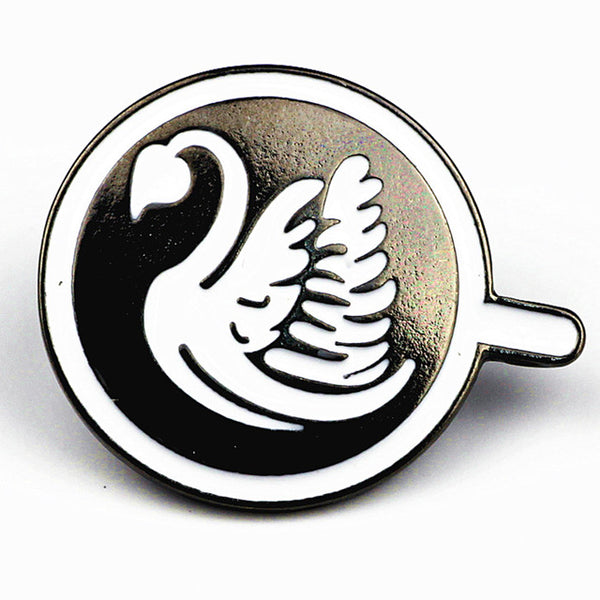 Swan Latte Art Brooch