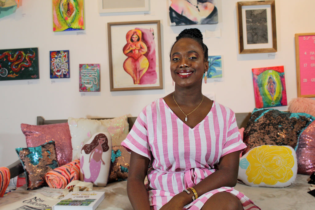 Maya McGee is the founder of Lux+Orleans, a New-Orleans based company that creates hand-crafted jewelry.