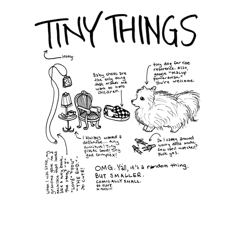 """Everything is Going to be Okay"" Zine by Elise Ingber, inner page ""tiny things"""