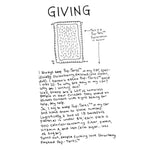 """Everything is Going to be Okay"" Zine by Elise Ingber, inner page ""giving"""
