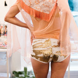 JL Mermaid Color-Changing Sequin Shorts