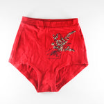 Bloomers (High Waisted Undies) by Sierra Kozman in red