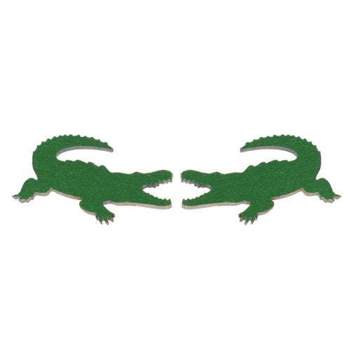 Green Gator alligator stud