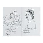 Art history coloring book of female self-portraits by local New Orleans artist Maddie Stratton. Pan Yu Liang