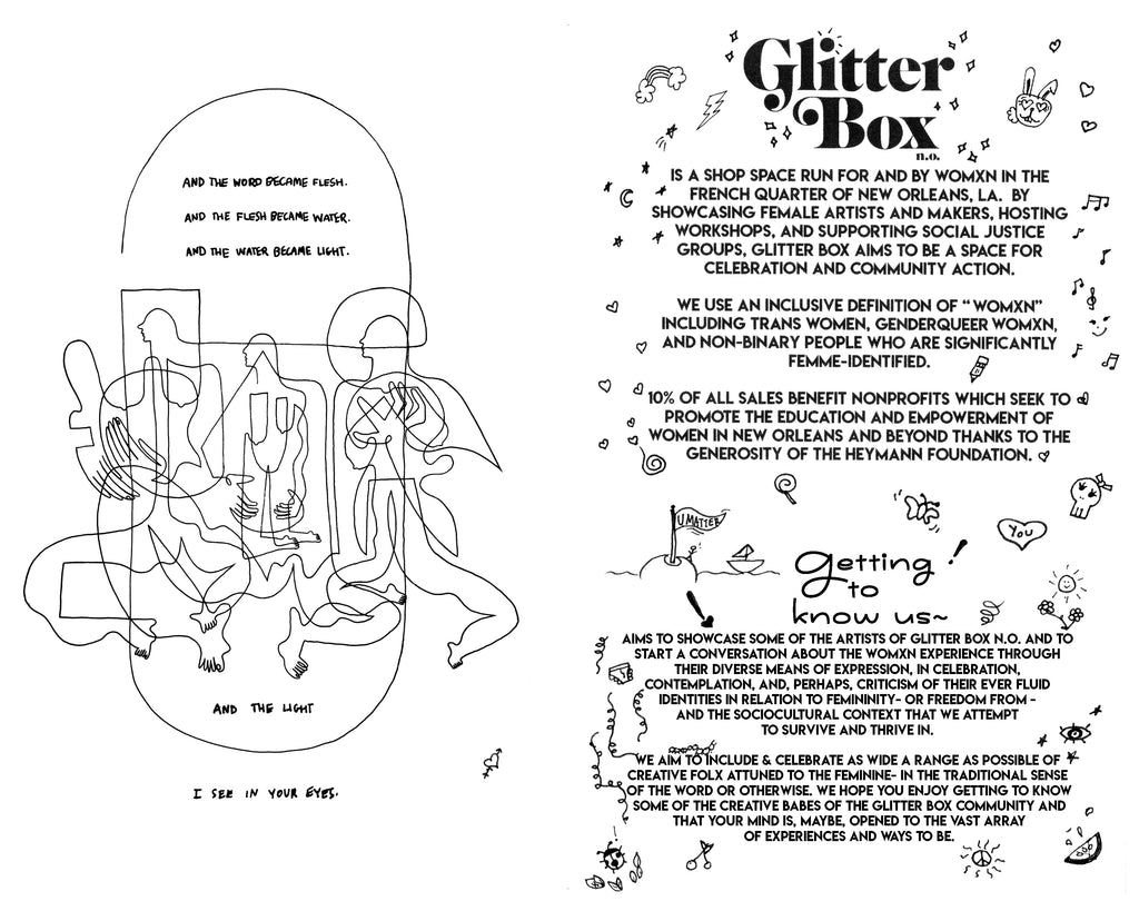 Getting to Know Glitter Box Zine curated by Kate McCurdy & printed by Paper Machine in New Orleans