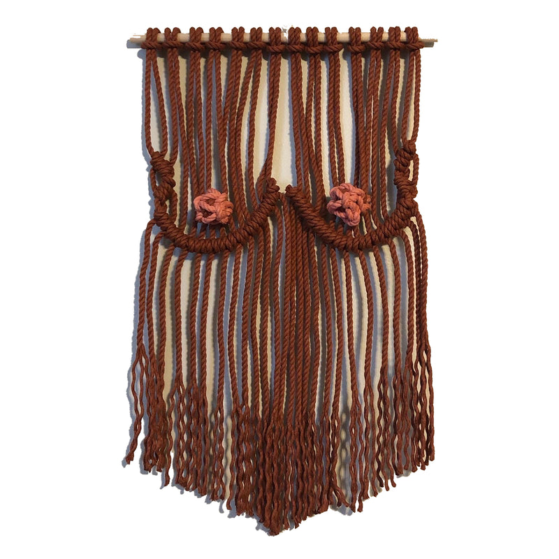 New Orleans macrame woven brown boobies