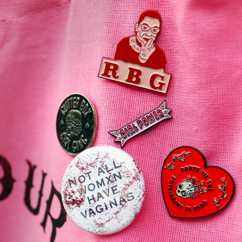 RBG Enamel Pin By the Glitter Box Girl Gang!